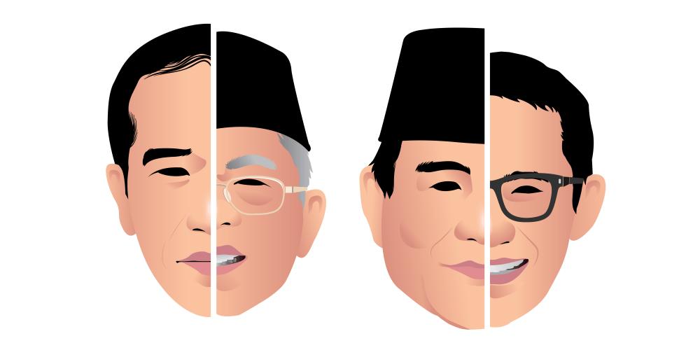 2019年インドネシア総選挙の開票状況