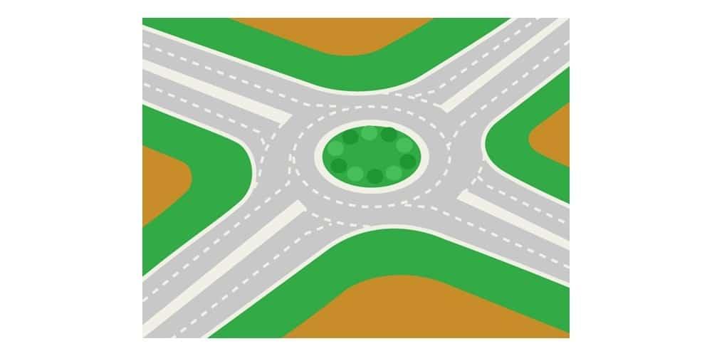 インドネシアの道路にはラウンドアバウトが多い