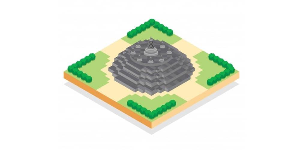 中部ジャワの仏教寺院遺跡群ボロブドゥール