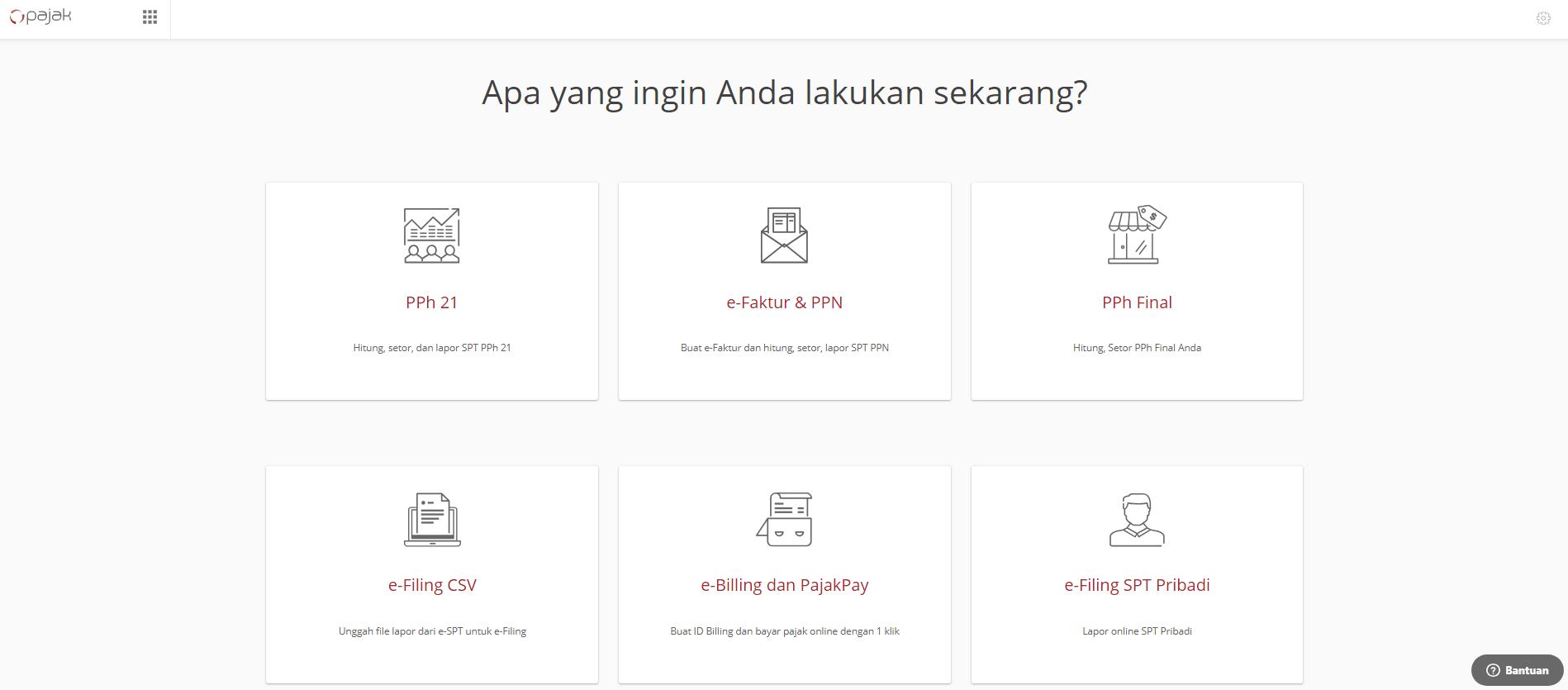 Online Pajak画面