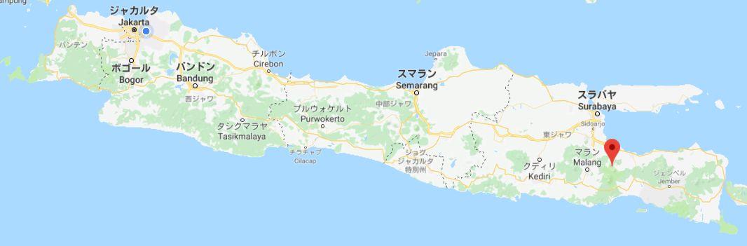 インドネシアのブロモ山