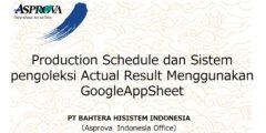 Production Schedule dan Sistem pengoleksi Actual Result Menggunakan GoogleAppSheet【Seminar pada Tanggal7 Juli 2021】