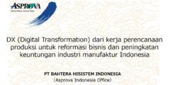 DX (Digital Transformation) dari kerja perencanaan produksi untuk reformasi bisnis dan peningkatan keuntungan industri manufaktur Indonesia【Seminar pada Tanggal5 Agustus 2021】