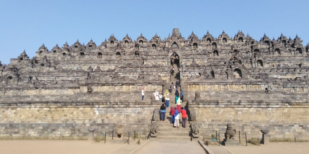 インドネシアのボロブドゥール遺跡