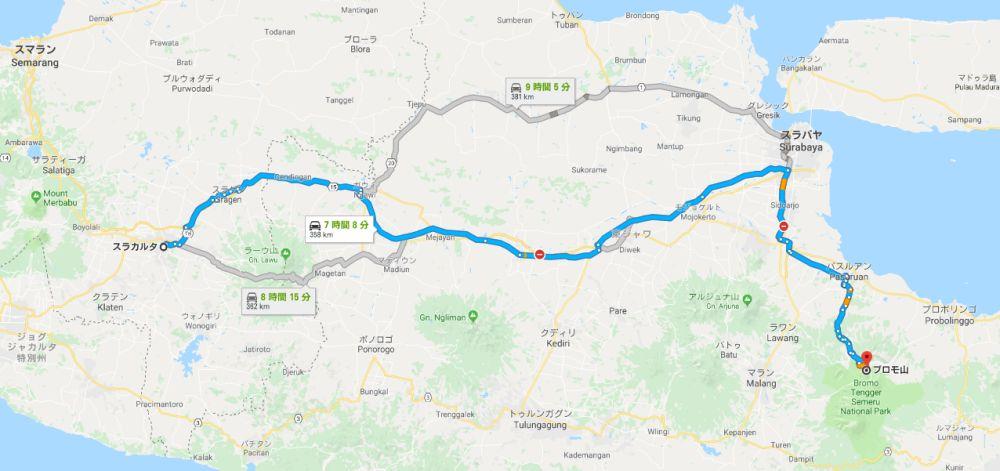 ソロからブロモ山までの道のり